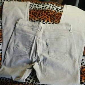 Tan Levi Cords 8 Straight Leg 505